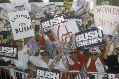 Reunión de la campaña de Bush/de Cheney en Costa Mesa, CA Fotos de archivo libres de regalías