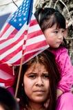 Reunión de la inmigración en Washington Imágenes de archivo libres de regalías