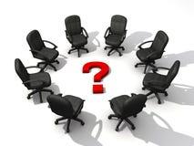 Reunión de la pregunta stock de ilustración
