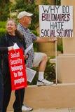 reunión de la protesta de MoveOn.org Imagen de archivo libre de regalías