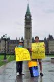 Reunión de la protesta del punto de ebullición en Ottawa Foto de archivo libre de regalías
