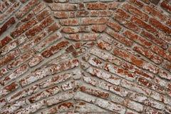 Reunión de la textura del fondo de la pared de ladrillo de arcos Imágenes de archivo libres de regalías
