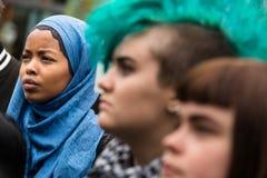Reunión de las derechas del refugiado Imagen de archivo libre de regalías