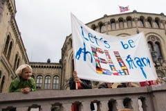 Reunión de las derechas del refugiado Fotografía de archivo libre de regalías