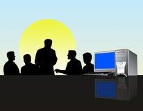Reunión de las personas del asunto stock de ilustración