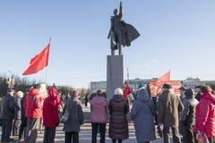 Reunión de los comunistas fotografía de archivo libre de regalías