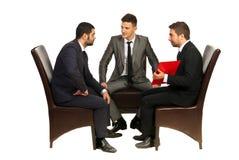 Reunión de los hombres de negocios Foto de archivo libre de regalías