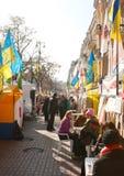 Reunión de los partidarios de Julia Timoshenko Foto de archivo libre de regalías