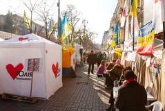 Reunión de los partidarios de Julia Timoshenko Fotografía de archivo libre de regalías