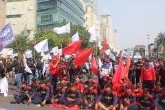 Reunión de los trabajadores en Jakarta Imagenes de archivo