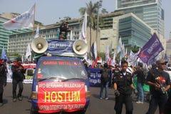 Reunión de los trabajadores en Jakarta Foto de archivo libre de regalías