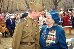 Reunión de los veteranos de la guerra. Fotografía de archivo libre de regalías