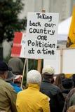 Reunión de manifestantes Imagen de archivo
