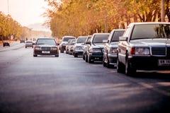 Reunión de Mercedes Benz a Nakhon Ratchasima, Tailandia 6 de febrero de 20 Fotografía de archivo