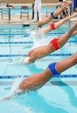Reunión de nadada de Competitve Fotos de archivo