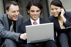 Reunión de negocios afuera Foto de archivo libre de regalías