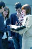 Reunión de negocios al aire libre Foto de archivo