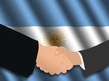 Reunión de negocios argentina ilustración del vector