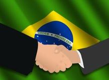 Reunión de negocios brasileña stock de ilustración