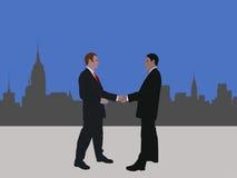 Reunión de negocios de Manhattan stock de ilustración