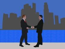 Reunión de negocios de Singapur ilustración del vector