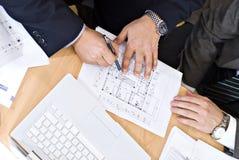 Reunión de negocios del arquitecto Imágenes de archivo libres de regalías
