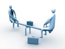 Reunión de negocios divertido Stock de ilustración