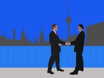 Reunión de negocios en Berlín ilustración del vector