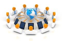 Reunión de negocios en línea ilustración del vector