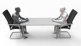 Reunión de negocios humana tridimensional Imágenes de archivo libres de regalías