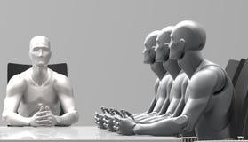 Reunión de negocios humana tridimensional Fotografía de archivo libre de regalías