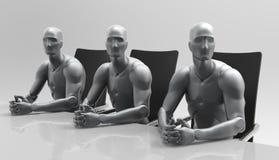 Reunión de negocios humana tridimensional Foto de archivo libre de regalías