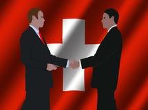 Reunión de negocios suiza Imágenes de archivo libres de regalías