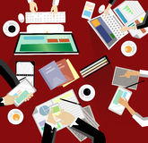 Reunión de negocios y reunión de reflexión Diseño plano Fotos de archivo libres de regalías