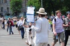 Reunión de oposición en el día de Rusia en el prospec Fotos de archivo