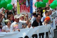 Reunión de oposición en el día de Rusia en el prospec Imágenes de archivo libres de regalías
