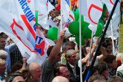 Reunión de oposición en el día de Rusia en el prospec Imagenes de archivo