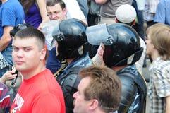 Reunión de oposición en el día de Rusia en el prospec Foto de archivo libre de regalías
