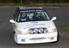 Reunión de Peugeot 106 en la acción Fotografía de archivo libre de regalías