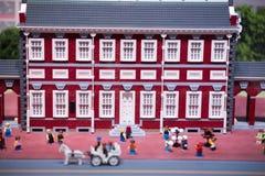 REUNIÓN DE PLYMOUTH, PA - 6 DE ABRIL: Gran inauguración del centro Philadelphia, PA del descubrimiento de Legoland el 6 de abril  Fotos de archivo