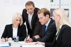Reunión de reflexión del equipo del negocio Imagen de archivo