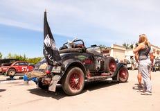Reunión de retro-coches  Fotografía de archivo
