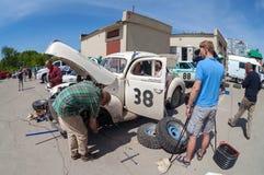 Reunión de retro-coches  Imagen de archivo libre de regalías