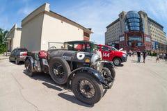 Reunión de retro-coches  Fotografía de archivo libre de regalías