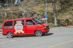 Reunión de Russe (países que se encuentran) en la fortaleza 2015 (Russe-coche) de Fredriksten Fotos de archivo libres de regalías