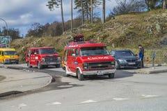 Reunión de Russe (países que se encuentran) en la fortaleza 2015 (Russe-coche) de Fredriksten Imagenes de archivo