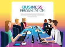 Reunión de unidad de negocio en vector ilustración del vector