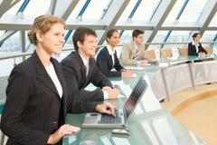 Reunión del accionista Imagen de archivo libre de regalías