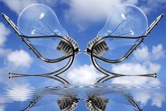 Reunión del cielo azul imagen de archivo