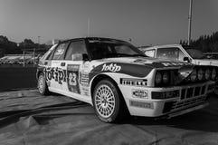 Reunión del coche de competición del DELTA internacional 16V 1994 de LANCIA vieja LA LEYENDA 2017 la raza histórica famosa de SAN Imagen de archivo